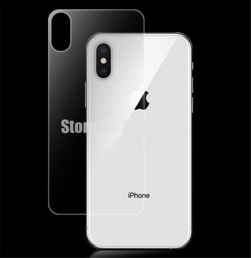 100pcs Premium Back Tempered Glass For iPhone XS max 2 5D Film Cover Rear Toughened Screen