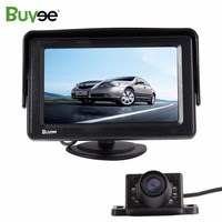 Universal HD 6 LED IR night vision Car reverse Rear view backup parking camera + 4.3 inch TFT LCD car monitor rearview display