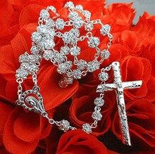 Free shipping rosary bead necklace/ catholic rosary/ glass rosary / rhinestone rosary special offer