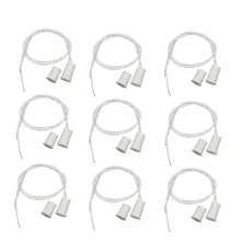 10 pcs MC-38 Wired Door Window Sensor Magnetic Switch for Home Alarm System,When Sensor together,normally Closed NC