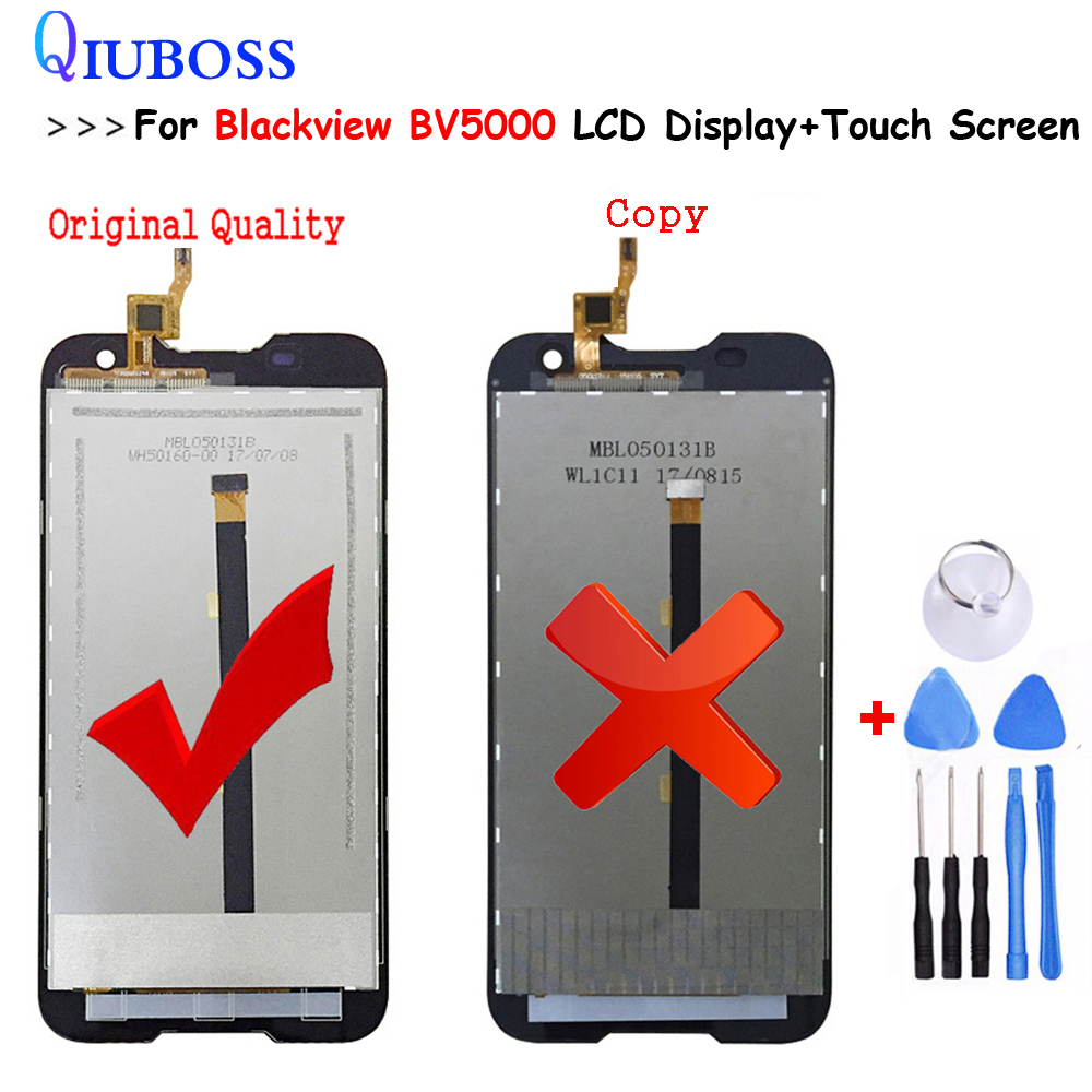 Original Quality For Blackview BV5000 LCD Display+Touch Screen Digitizer Assembly For Blackview BV 5000 100% Work well