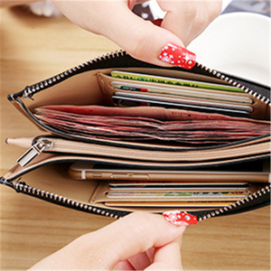 Purse Women Red/blue/yellow/black/pink/green/purple/coffee Wallet Female PU Leather Long Women Cellphone Bag 2020 Card Holder(China)