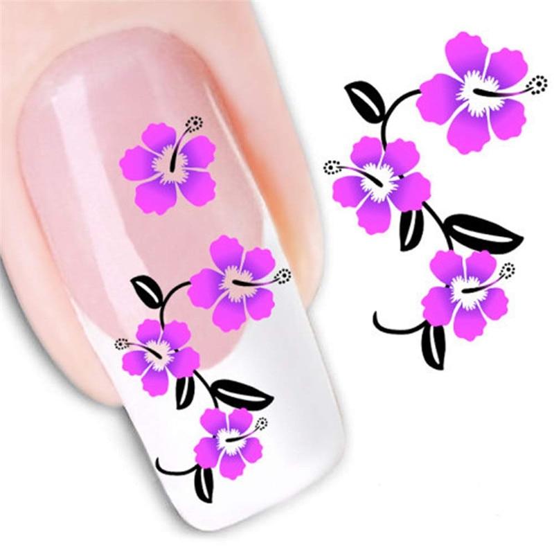 women's diy nail sticker water