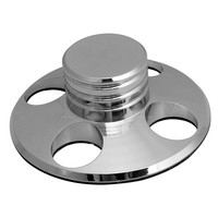 Yibuy Silver Record Player Accessory Turntable Disc Stabilizer 79mm Dia