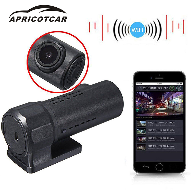 APRICOTCAR CAR HD DVR 1080P Mini Wifi Car Hidden DVR Camera Video Dash Cam Recorder Night Vision Reversing Driving Recorder