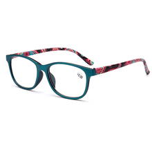 New Fashion Full Frame Reading glasses for women Spectacles Oculos magnifier gafas de lectura Print Spring Legs +1to4 N9