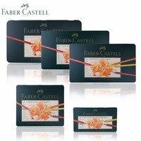 Lapices de faber castell 120 polychromos lápis de cor melhores artistas qualidade metal estanho conjunto 36 60 óleo colorido pastille lápis|polychromos colored pencils -