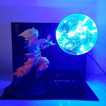 Dragon Ball Z Son Goku Super Saiyan Led Luces de la noche lámpara de escritorio Anime Goku de Dragon Ball Super Luces Led Decoración
