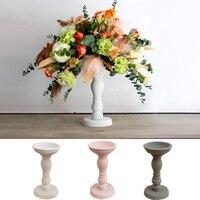 Big Romantic Candle Holders Vintage Retro Pillar Wooden Candle Holder Modern Mumluk Discounts Rack Flower Stand Wedding 50ZT027