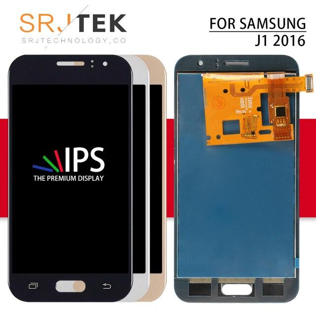 TFT Srjtek لسامسونج غالاكسي J1 2016 J120 LCD التحويل الرقمي لمسة الاستشعار الزجاج الجمعية J120F عرض J120H LCD J120M شاشة