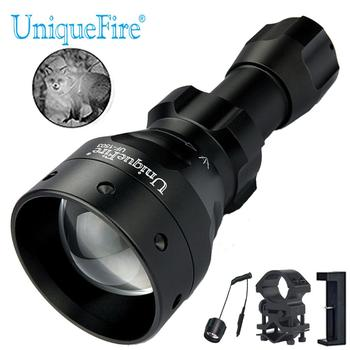 UniqueFire 1503 IR 850NM Night Vision Hunting Flashlight Infrared Light Waterproof LED Torch+Charger+Tactical Remote+Scope Mount