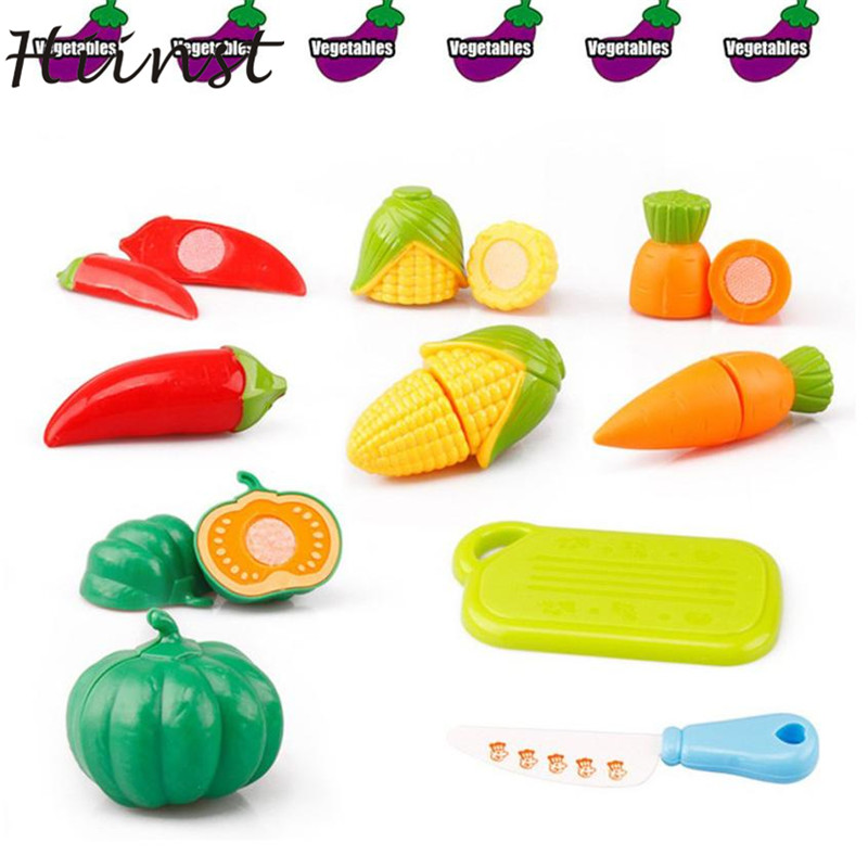 Baby Toy 6PC Cutting Fruit Vegetable Pretend Play Children Kid Educational Toy New Developmental 17Aug31