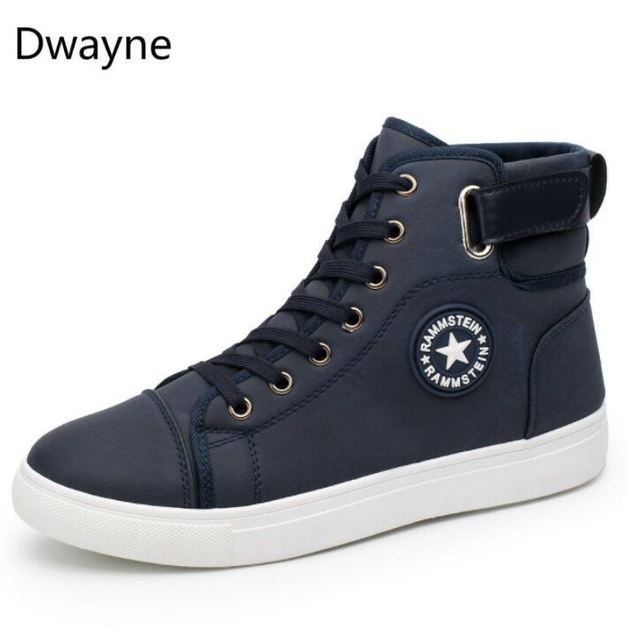 Dwayne Men's Vulcanize Shoes Men Spring Autumn Top Fashion Sneakers Lace-up High Style Solid Colors Man Shoes