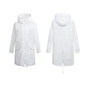 Image 3 - Xiaomi Uleemarks Long White Trench Coat  IPX5 Waterproof Sunscreen Clothing Fashion Hoodie Windbreaker