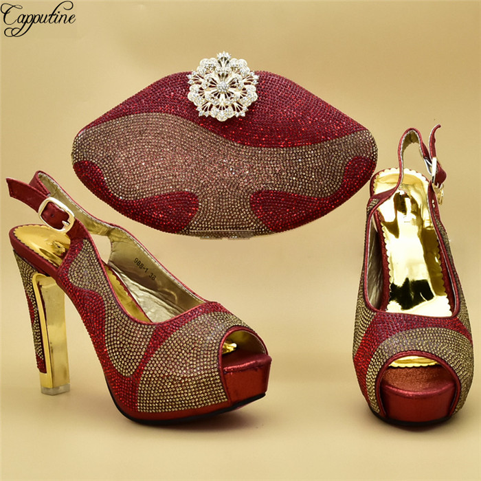 Luxury wedding/party high heel shoes and purse handbag set with rhinestones 988-1  free shippingLuxury wedding/party high heel shoes and purse handbag set with rhinestones 988-1  free shipping