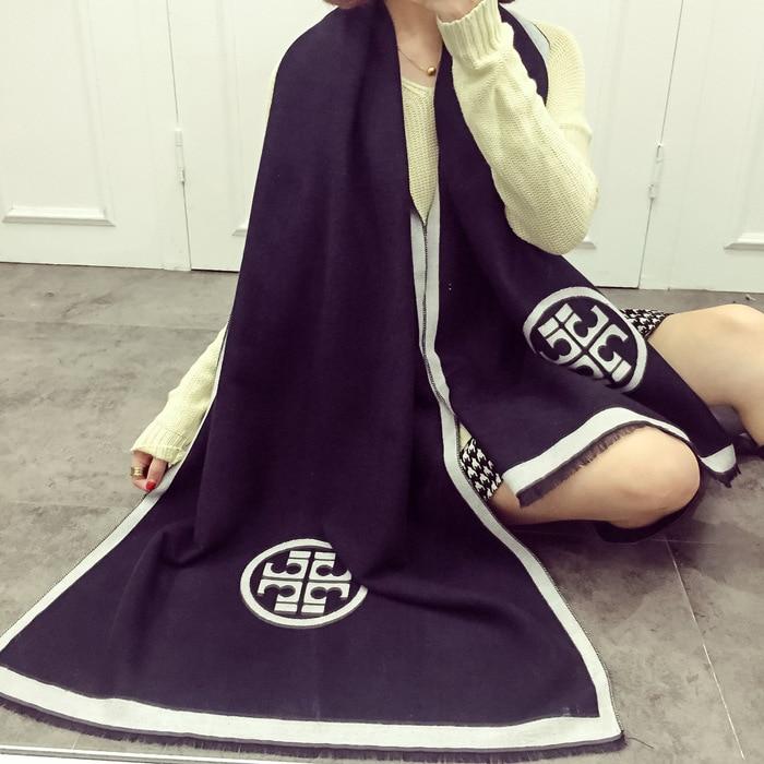 Для женщин шарф зима-осень Для женщин шарфы Обёрточная бумага шаль толстый Для женщин шарф теплый хлопок кашемир смесового трикотажа щетко... ...