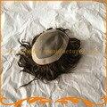 Парик мужчин базовый размер 8*10 дюймов моно кружева и ПУ парики горячей продажа 100% настоящие волосы для мужчин система волос мужские парик бесплатно доставка