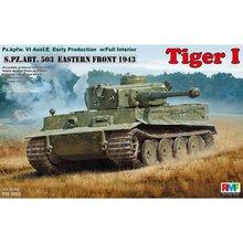 Çavdar Alan Modeli RFM RM 5003 1/35 Tiger I Erken Üretim w/Tam Iç Ölçekli Model seti