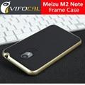 Cubierta de la caja del meizu m2 note nuevo estilo tpu del silicio + pc la cubierta trasera de protección para meizu m2 note teléfono móvil + free gratis