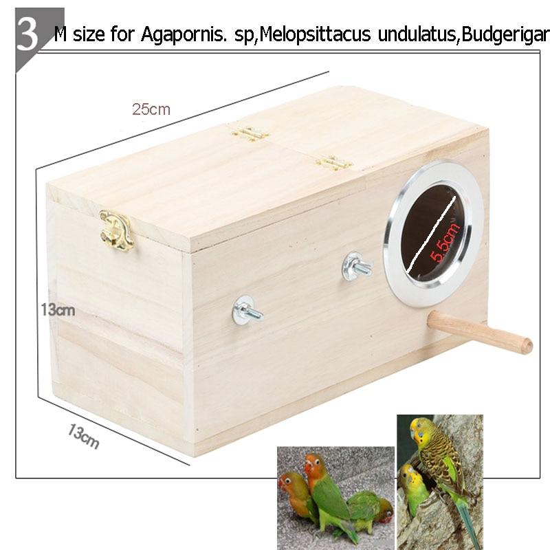 Parakeet fészek doboz, Budgie fészkelőház, tenyésztő doboz - Pet termékek - Fénykép 2