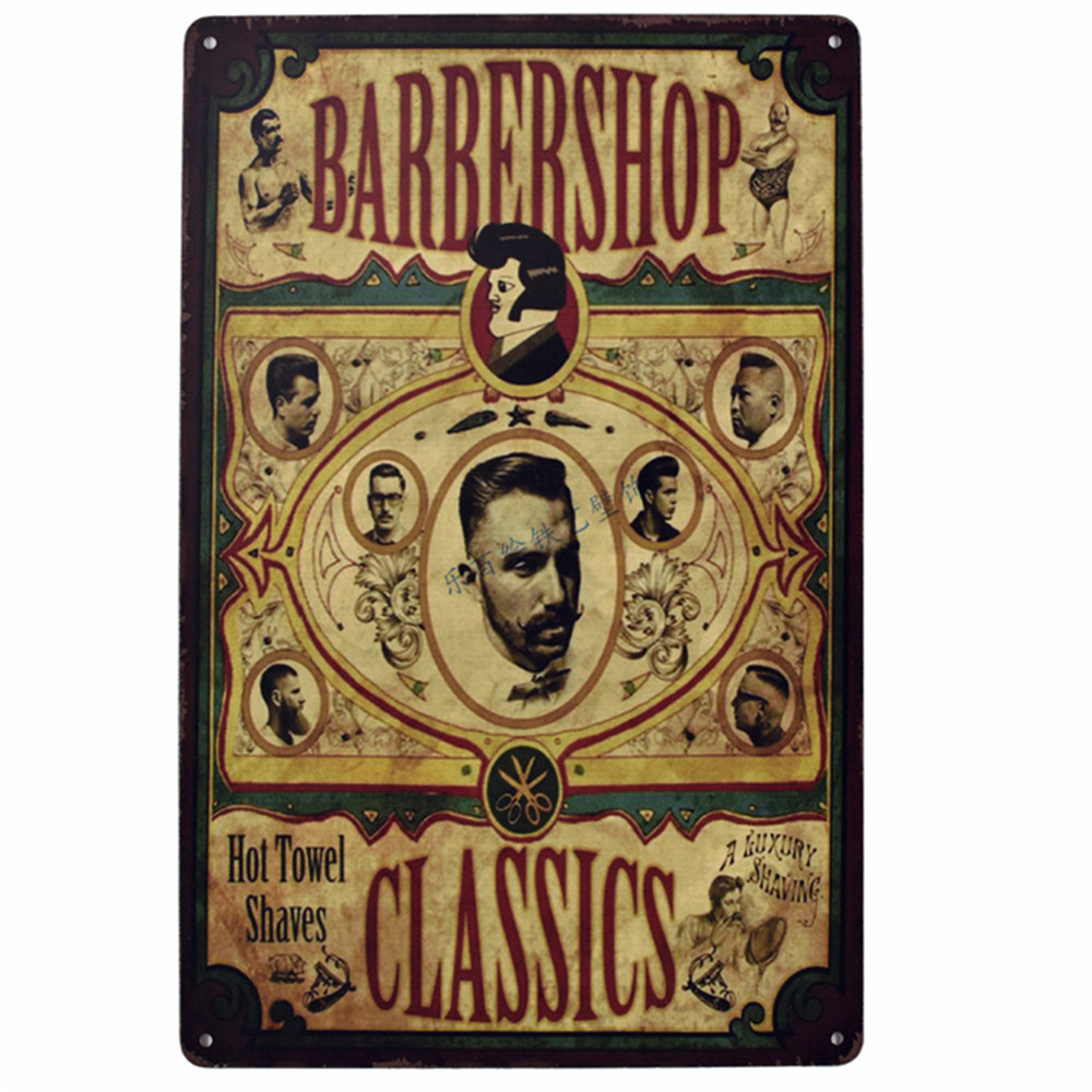 30x20 Cm Retro Metal Schilderen Emaille Bord Kapper Tattoos Posters Antieke Iron Poster Bar Pub Muur Sticker Kapper Shop Decor