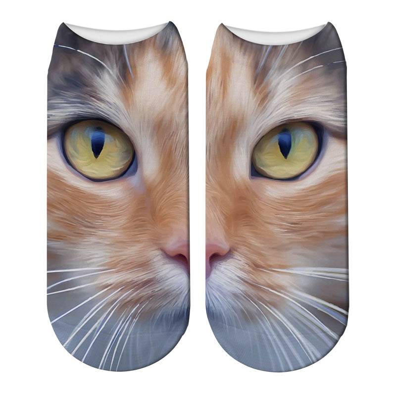 Funny Kawaii Women Socks Short 3D Cat Printed Beautiful Anklet Socks Casual Lovely Girl Cute Meias Comfortable Soxs 5ZJQ-ZWS16