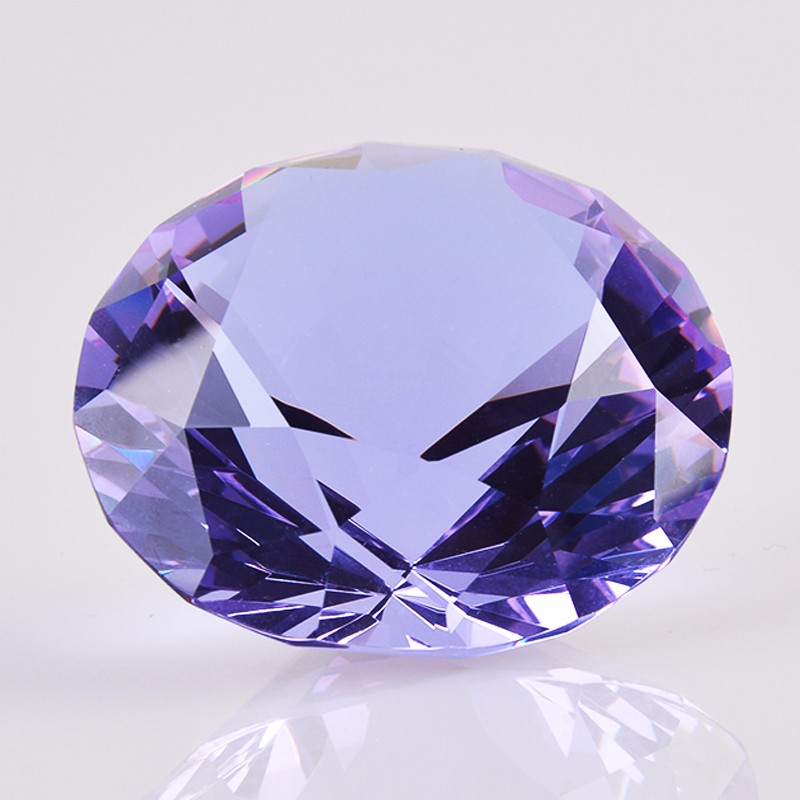 3CM Diameter Quartz Crystal Diamond 3D Glass Beads Ornaments 9 Colors Natural Stone Minerals for Gifts Home Decor Amethyst Stone 6