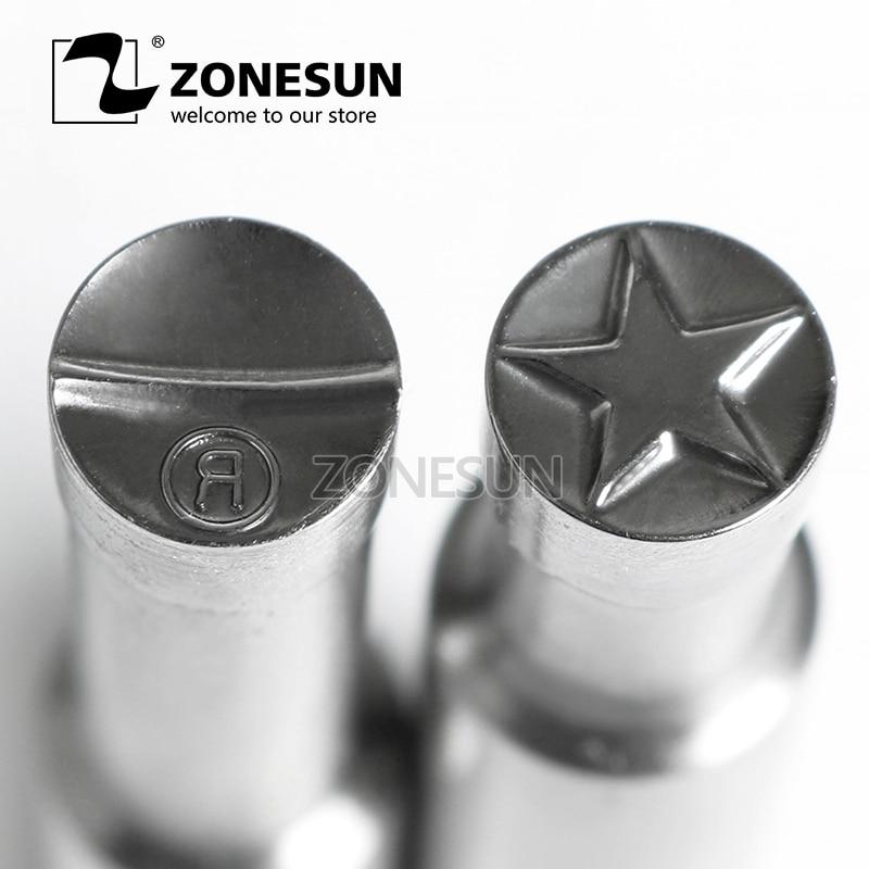 ZONESUN Star Sugar Tablet Press 3D Punch Mold Candy Milk Salt Punching Custom Logo Tablet Punch Die TDP0/5 Making Machine цена