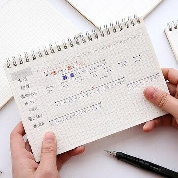 Muji Estilo Vintage Kraft Espiral Capa Notebook Planejador Mensal de Gestão de Todo Projeto Agendas Planejador Livro Habbit de Construção