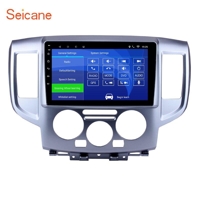 Seicane 9 Android 6,0 1024*600 сенсорный экран 2 Дин радио для 2009 2016 NISSAN NV200 gps навигации Поддержка bluetooth OBD2