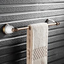 Single Towel Bar,Towel Holder, Towel rack Brass& ceramics Made,Chrome Finish, Bathroom Accessories OB91-08