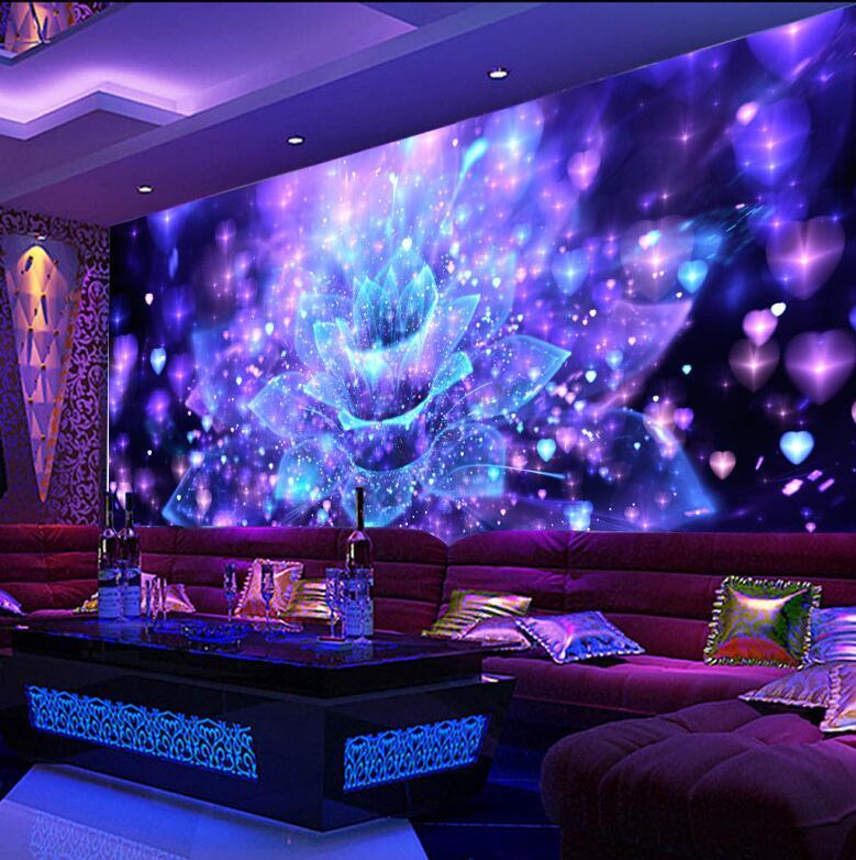 Custom 3D Large Wallpaper Murals For KTV Bar Ballroom