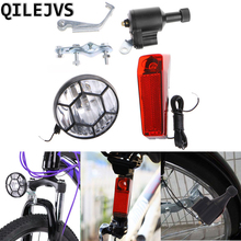 Cool Motorized Bike Bicycle Friction Generator Dynamo Head Tail Light Acessories Drop Shipping