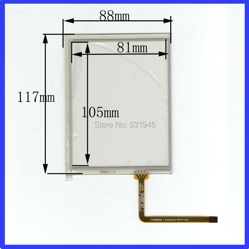 ZhiYuSun NEW 5 Inch Touch Screen 117*88     for industry applications  117mm*88mm for PDA GLASS for PDA  and display zhiyusun new 10 4 inch touch screen 239 189 for industry applications 239mm 189mm 8 lins 47f8104025 r13 commercial use