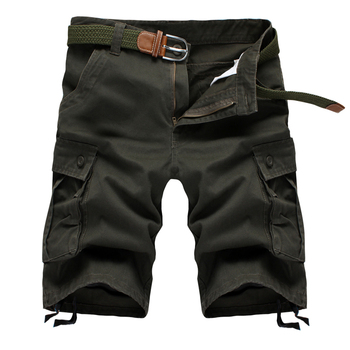 Men's Baggy Multi Pocket Military Zipper Cargo Shorts 1
