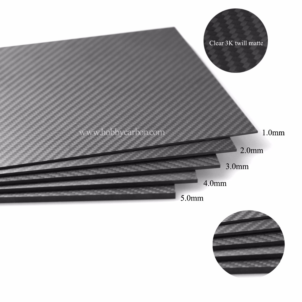 T700 400*500*1.5mm With 100% Real Carbon Fiber plate/panel/sheet 3K twill matte weave 1sheet matte surface 3k 100% carbon fiber plate sheet 2mm thickness