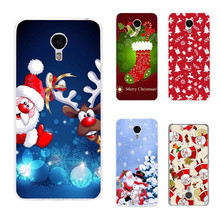 New Year Gifts Christmas Tree Snowman Soft Cover Case for Meizu M3 M5 Note M5S M3S U10 Transparent TPU Santa Claus Phone Case