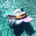 "Gaint ""Unicorn""  Inflatable Mattress ""Pegasus"" Pool Float Toy Sunbathe Beach Mat Air Pad Buoy Swimming Ring Circle Party Toys"