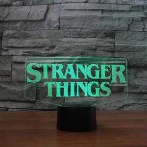 Image 2 - 7 Colors Changing 3D Acrylic Led Luminous Stranger Shape Table Lamp Office Home Decor Child Movie Bedside Sleep Night Light Gift
