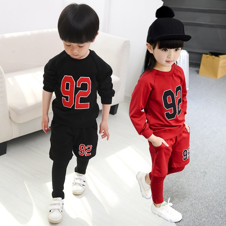 ФОТО Child Boy Girl Clothing Sets 2016 Autumn Spring Long Sleeve Letter Car Print Set For Baby Toddler Outfit Children Clothing Suit