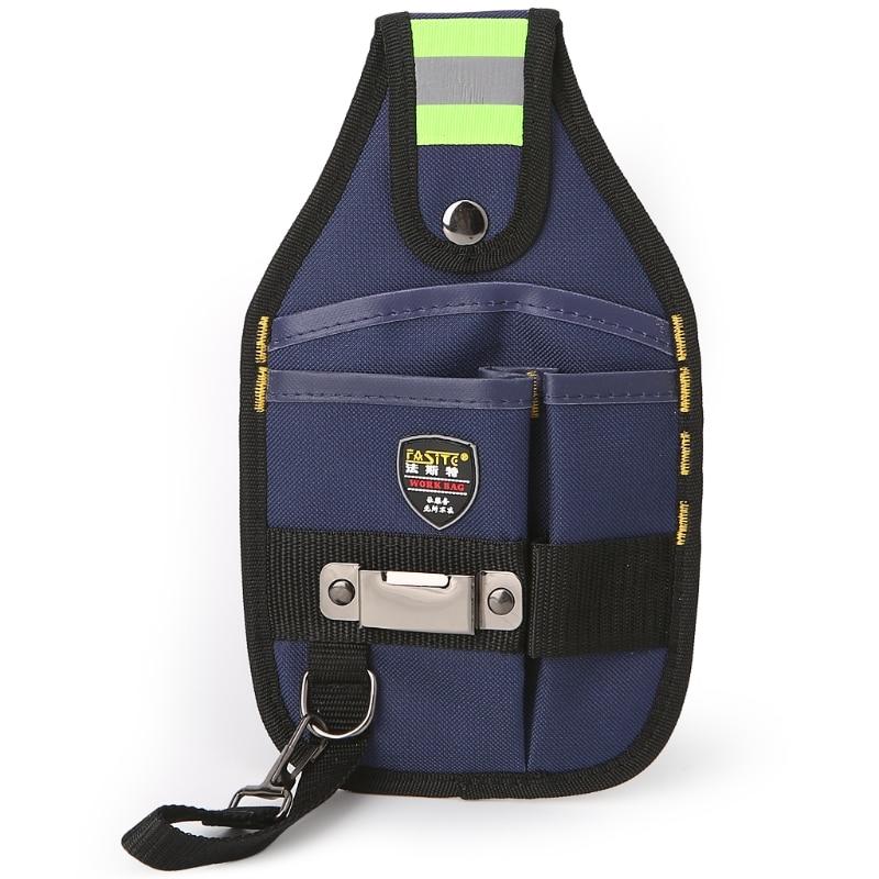 508fcc144bbb 3-карман Профессиональный электрик Сумки для инструментов Клейкие ленты  Пряжка работы поясная сумка