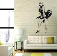 送料無料マリリン·モンロー壁デカールステッカードレス現代の装飾取り外し可能なステッカーホームデコレーションステッカーGW-26