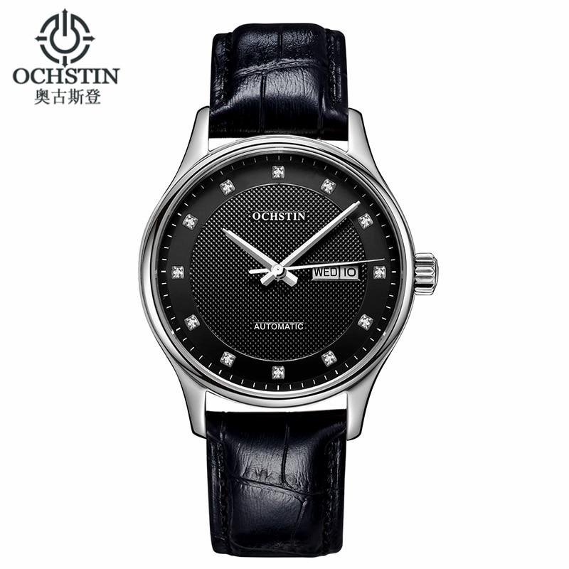 Ochstin Classic Automatic Watch Men Military Genuine Leather Strap Watches Luxury Brand Dress Wristwatches Women Reloj Hombre 247 classic leather