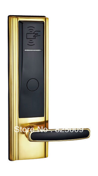 new arrival golden color China manufacturer swipe RFID card hotel door lock