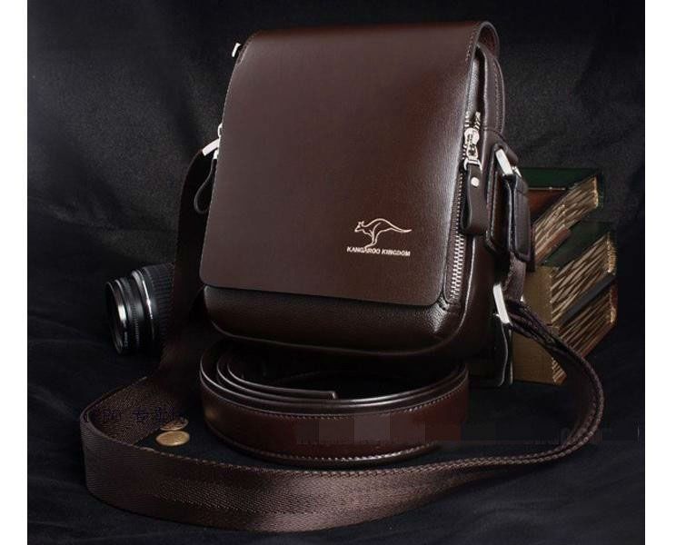 New collection 2017 fashion brand leather men shoulder bag, High Quality Brand New, Authentic Kangaroo bags, men's business bag