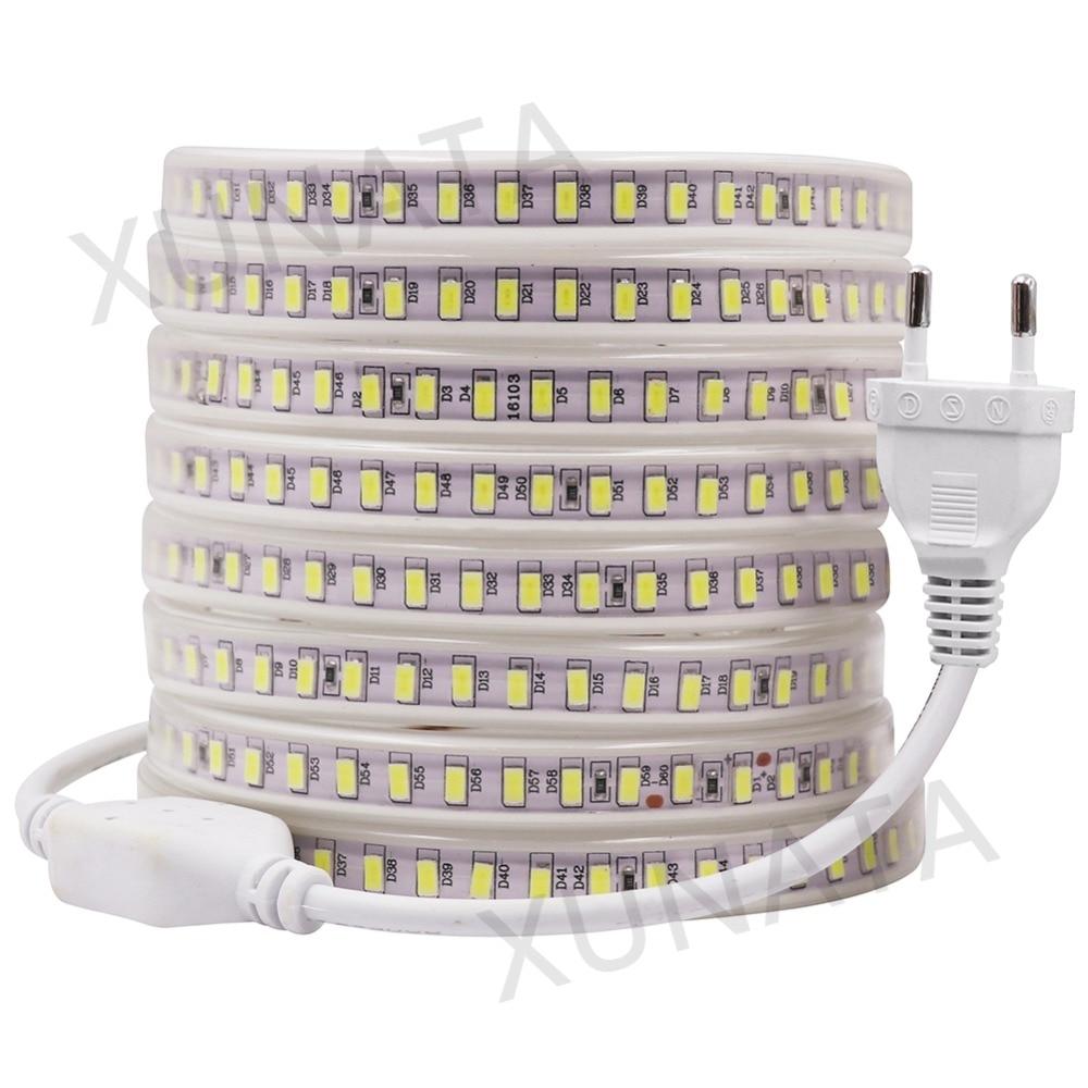 Led Kitchen Garden: 220V EU Power Plug White Warm White LED Strip Lights 5630