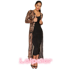 Laipelar long sleeve embroidered sequin top kimono womens tops and blouses 2018 new fashion coat ladies blouse D35-BA-50