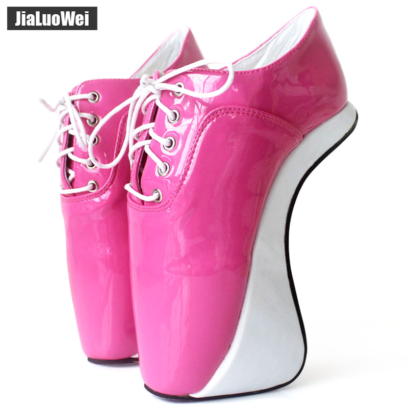 Women 2018 Ultra High Heels Fashion Sexy Pumps Elastic band Ankle Boots Short Plush Shiny Pointed Toe Hoof Heelless Ballet Shoes in Women 39 s Pumps from Shoes