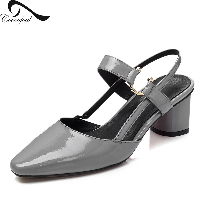 ФОТО Natural leather pumps sandals Hot new products Low shoes Metal buckle decoration Europe United States fashion Platform sandals