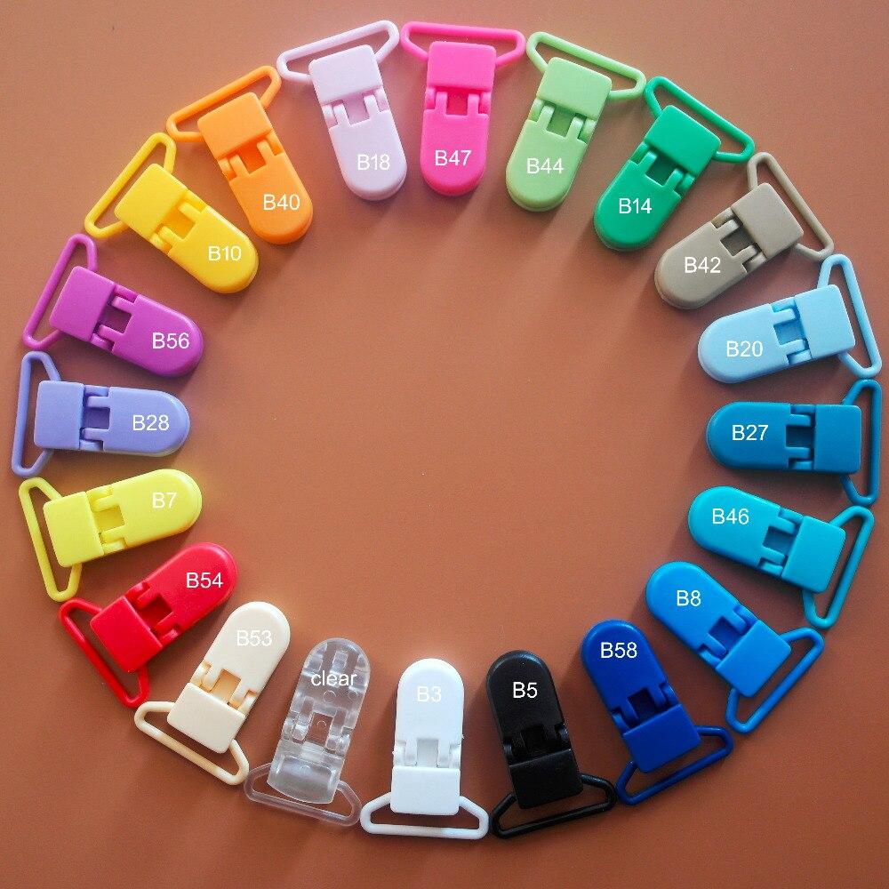dhl 20 cores misturadas 600 pces 25mm d forma plastico manequim chupeta clipes suspender pasta soother